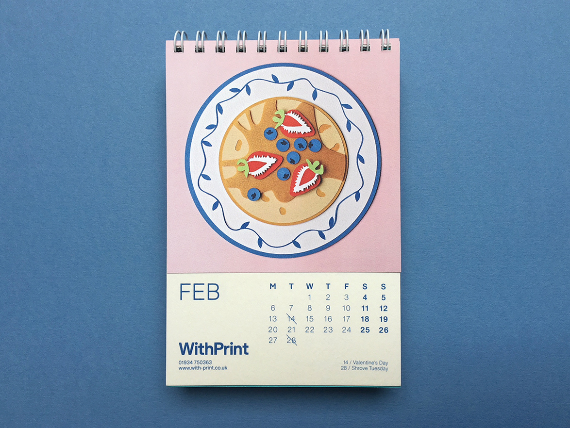 Calendar collaboration with GF Smith and WithPrint