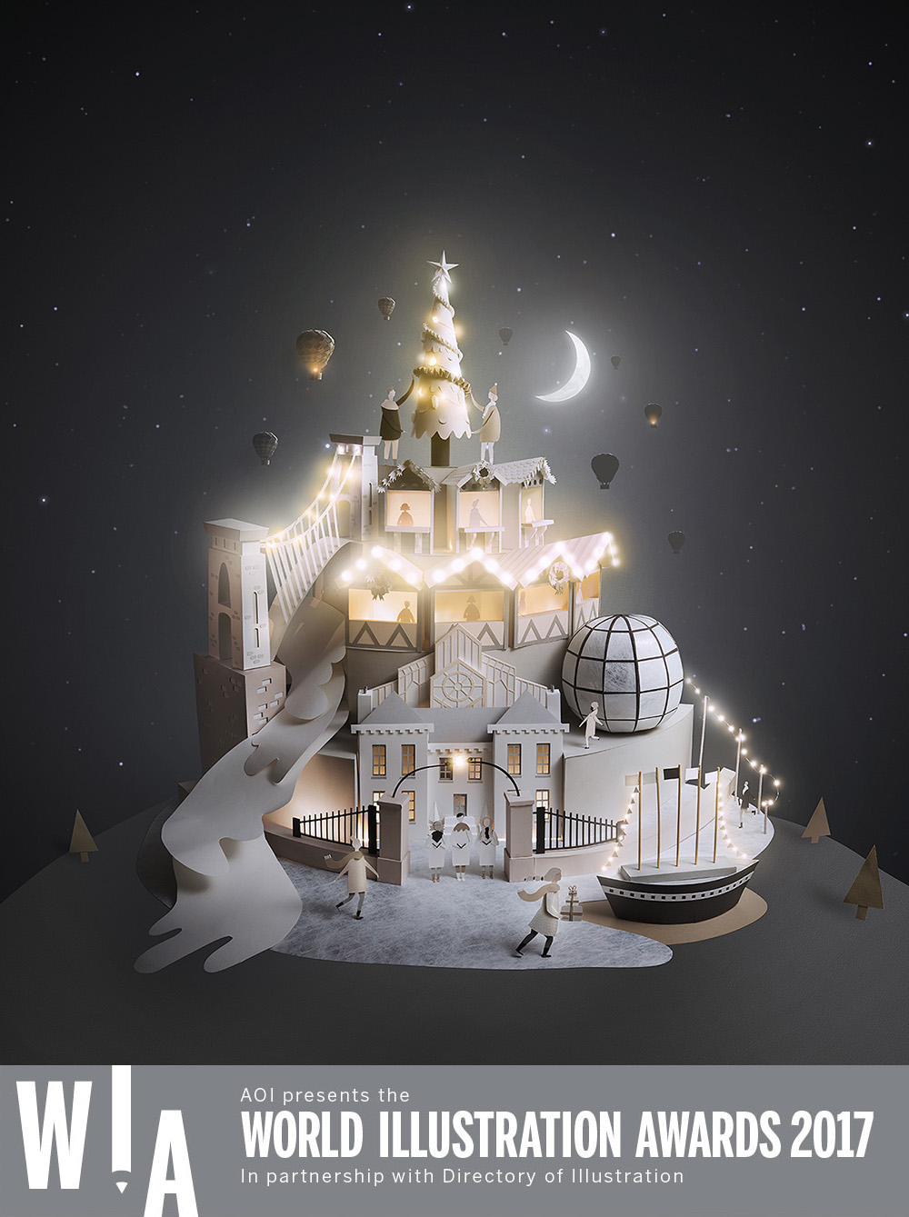 Christmas-Visit Bristol-Sam Pierpoint_World Illustration Awards Shortlist